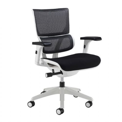 Dynamo Fabric Seat Mesh Back Office Chair - White